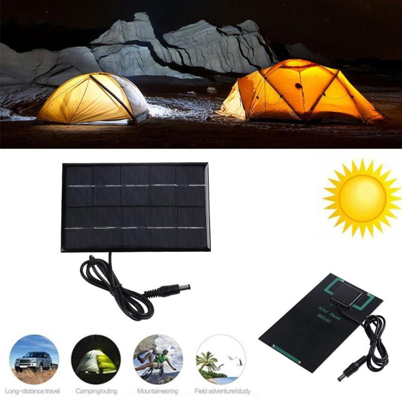 1.9W 5V Epoxy Polysilicon Solar Panel Solar Module Battery Charger Board Solar Panel Powered Bulb Outdoors Camping Energy Board