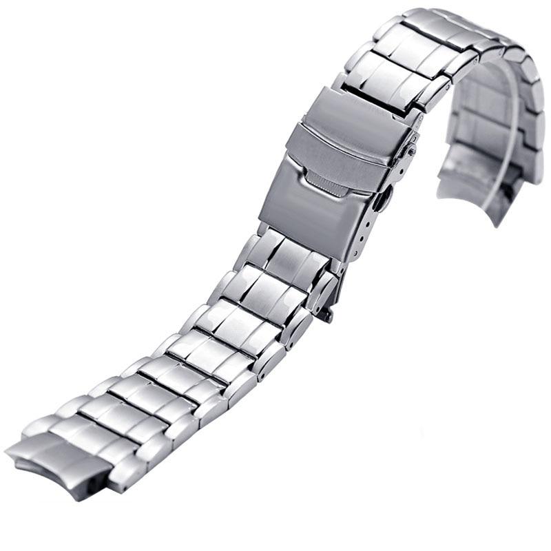 b282fce8e38a De acero inoxidable correas para CASIO edificio EFX 500D relojes hombres  banda de deporte de alta calidad reloj de pulsera Correa 24 16mm correa de  reloj en ...