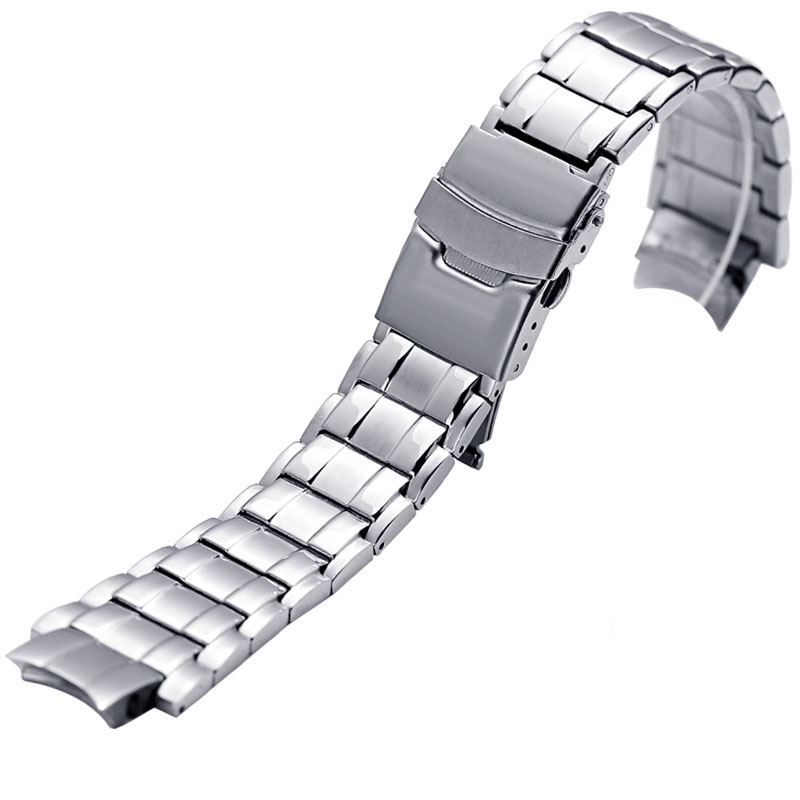 Stainless Steel Watchbands For CASIO edifice EFX-500D Men Watches Band Sport Top Quality Watch Bracelet Belt 24*16mm Watch Strap matte stainless steel watchbands blue black strap accessories 20mm 22mm for luxury sport watches men solid links watch band 2018