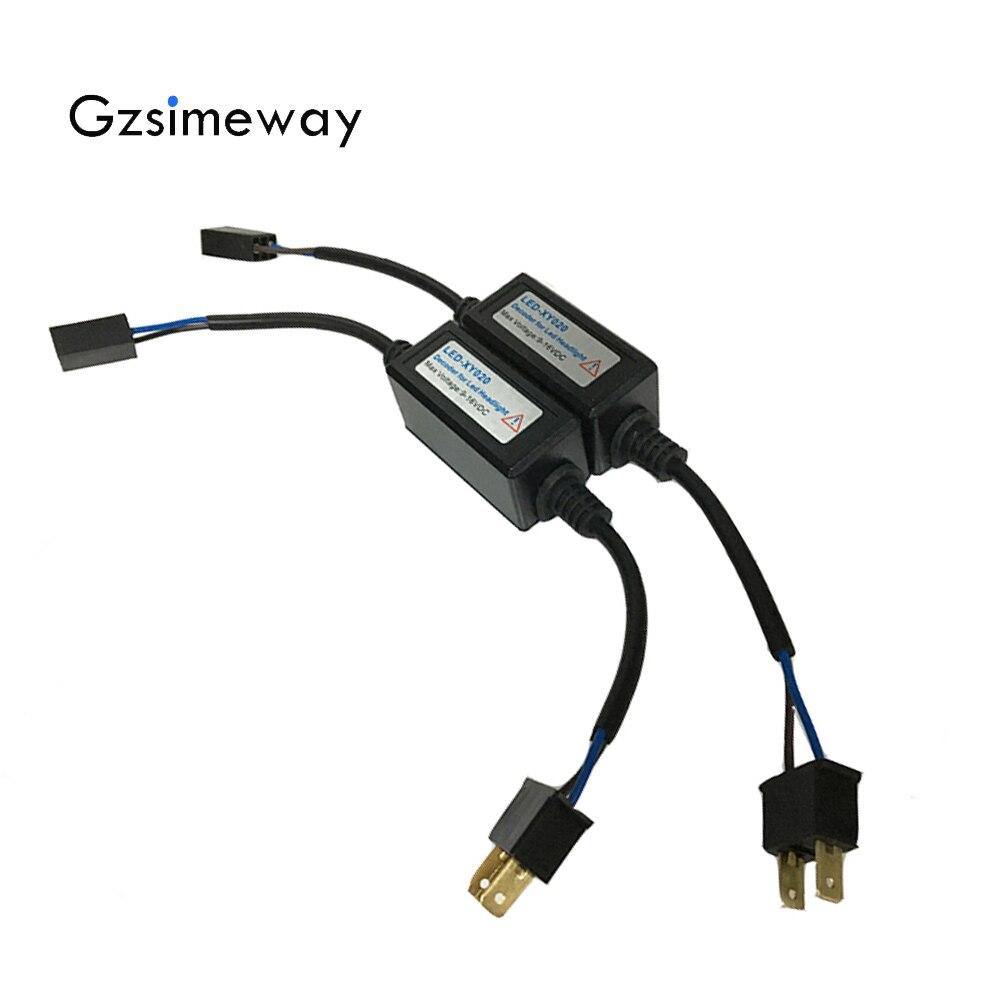 LED de voiture Canbus décodeur H11 h1 H7 H4 Hb3 Hir2 hb4 H8 phare ordinateur avertissement annuleur sans erreur Anti résistance
