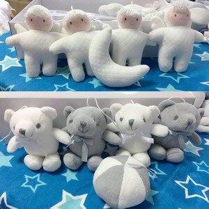 Image 5 - Bebê berço titular chocalhos brinquedos do bebê 0 12 meses clockwork caixa de música cama sino brinquedo urso artesanal brinquedos móveis para crianças conjunto
