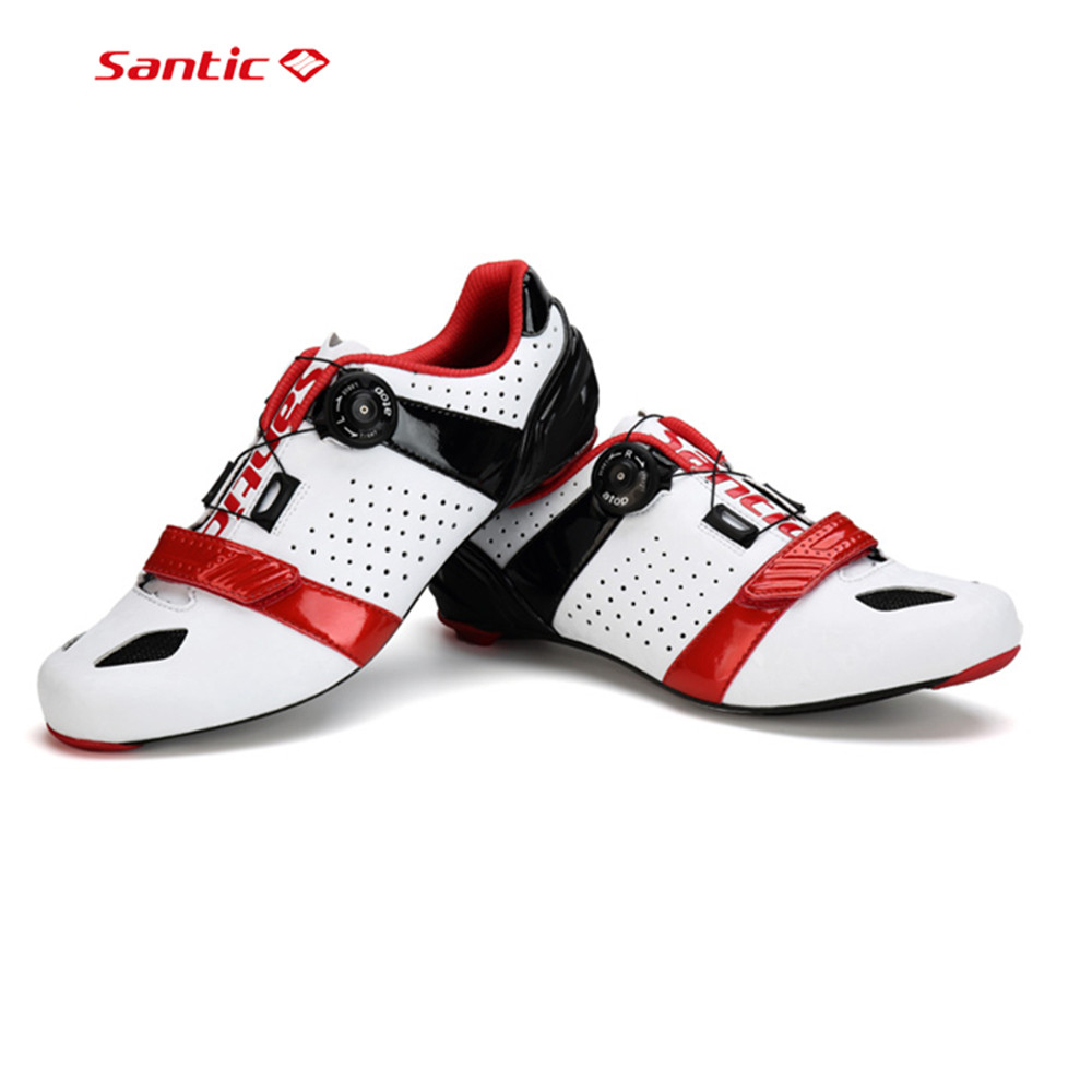 SANTIC Auto-lock Cycling Shoes Ultralight Breathable Bicycle Carbon Fiber Soles Cycling Sneakers Off Road Bike Sports Mtb Shoes антиугон auto lock