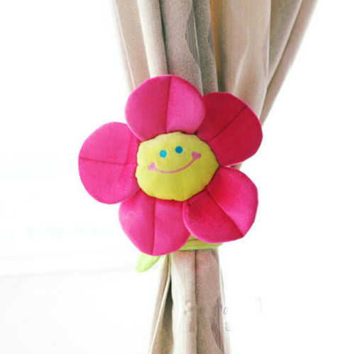 Cartoon-Curtain-Clip-Sunflower-Plush-Flexible-Tieback-Toy-Home-Dcor-Lovely-Girls-Gift-4