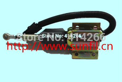 Wholesale 3926411 Fuel Shutdown Solenoid Valve SA-4257-12 for  Engine,12V jiangdong engine parts for tractor the set of fuel pump repair kit for engine jd495