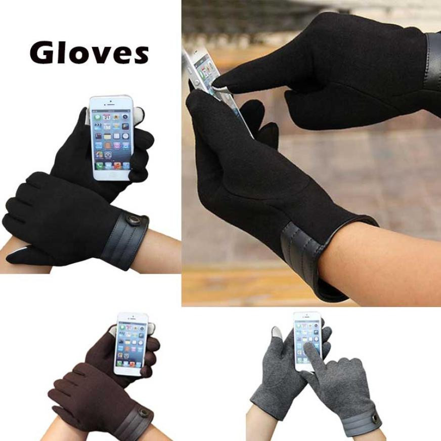 2017 New Style Fashion Men Touch Screen Winter Outdoor Sport Warm Gloves fitness eldiven luvas de inverno Free Shipping