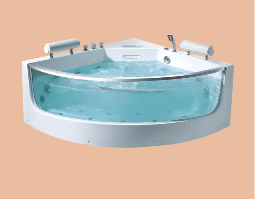 Permalink to 1400mm Wall Corner Triangular Fiberglass whirlpool Bathtub Acrylic Hydromassage Surfing Tub NS3002