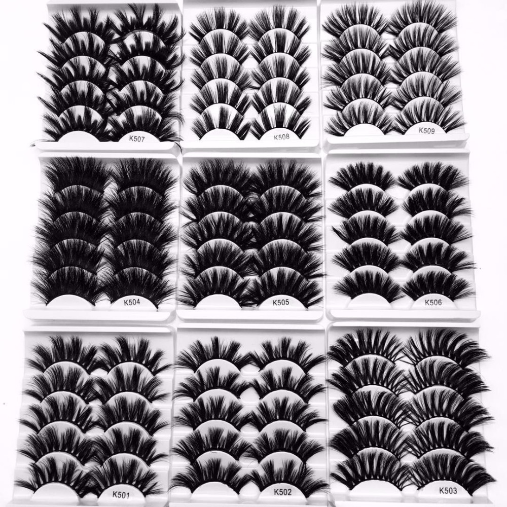 1d37259d031 BEST SALE) NEW 3/5/7 Pairs 3D Mink Hair False Eyelashes Criss-cross ...