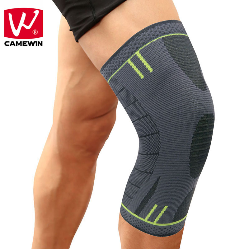 CAMEWIN 1 PCS Knee Pads Knee Support for Running, Jogging, Basketball,Sports, Joint Pain Relief, Arthritis and Injury Recovery 1pair health care knee brace support therapy compression sleeves for arthritis meniscus tear acl pain relief injury recovery