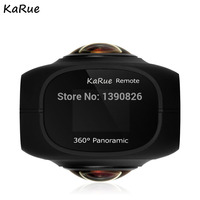 karue Dual Lens Panoramic Camera 4k HD 360 Camera Wifi 1 Screen Mini Digital Camera Video For Android iphone6/6s/7 iOS