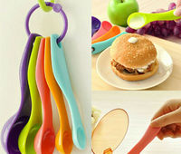 baking utensils trumpet colorful plastic volume scoop spoon 5 size suit Add baking material component control tool free shipping