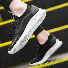 Popular Trendy Men Shoes Flyknit Mesh Casual Soft Breathable Walking Sneakers Flats Summer Run