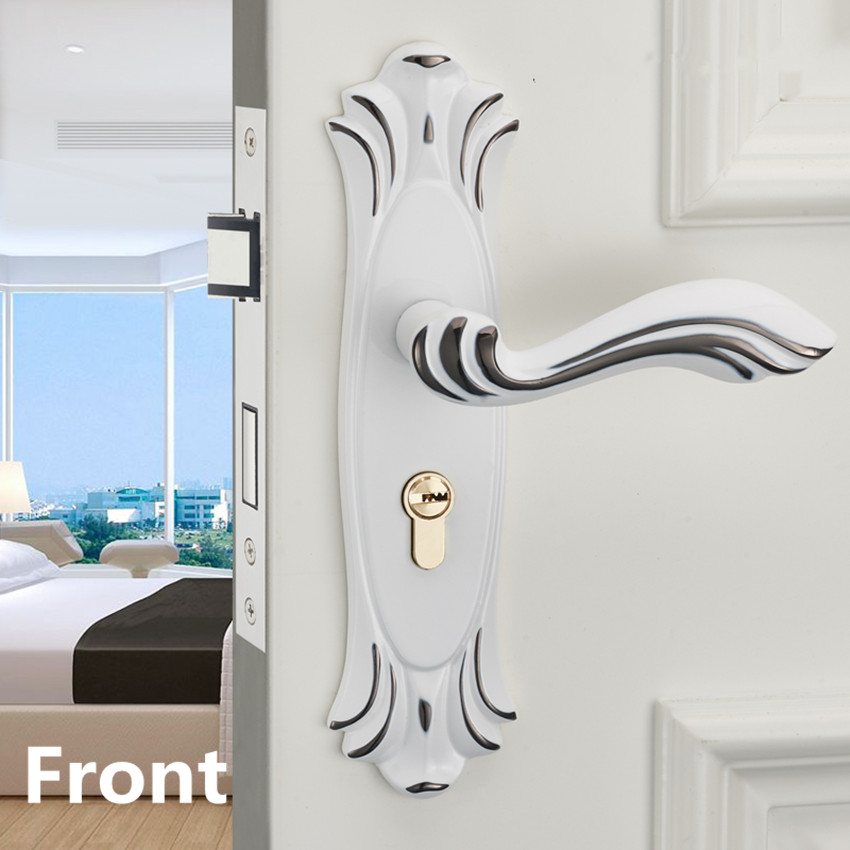 Euro Fashion white black mute mechanical split room door lock,ivory white bedroom bathroom, kitchen solid wood door handle lock euro kitchen lv044 white насадка для набивки колбас