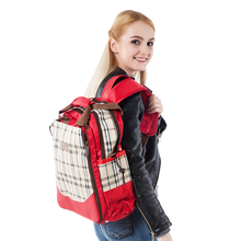 Waterproof Plaid design RED/Blue/Brown checkout style fashion Nappy bags,multifu