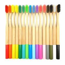 16 цветов бамбуковая зубная щетка из натурального древесного угля Экологически чистая Мягкая зубная щетка со щетиной для ухода за полостью рта