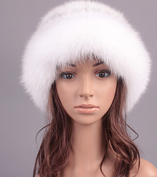 Free Shipping Luxury Autumn and Winter genuine fox fur bomber hats , Female Luxury Caps Stylish Real Fur hats For women