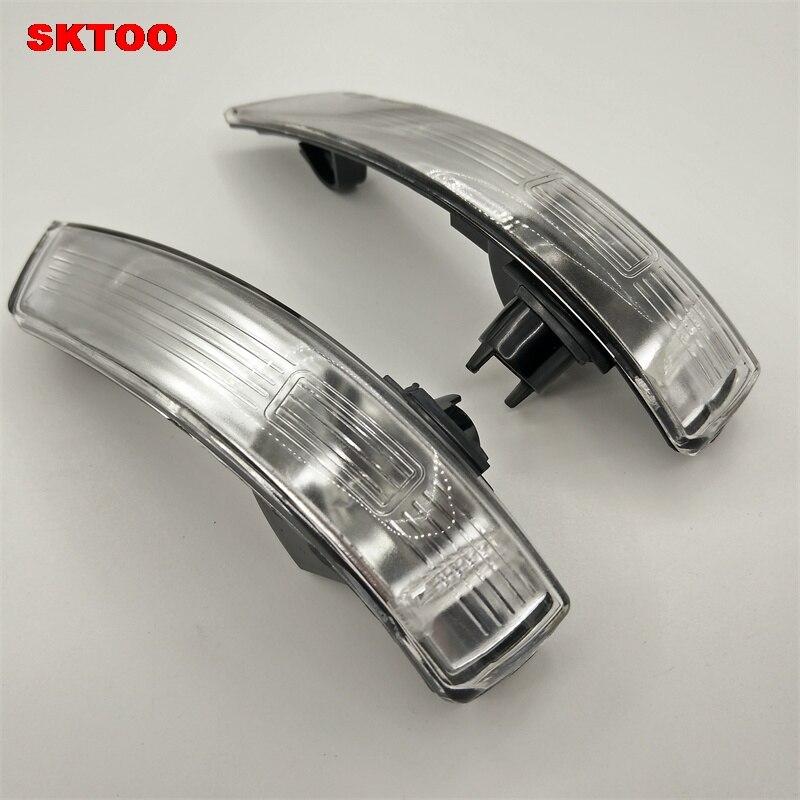 sktoo par de espelho turn signal corner tela sombra tampa da lampada de luz para ford