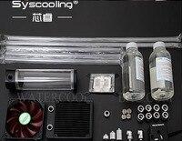 Syscooling жесткие трубки жидкостного охлаждения Наборы № 1 компьютер Корпус Intel Процессор Алюминий!