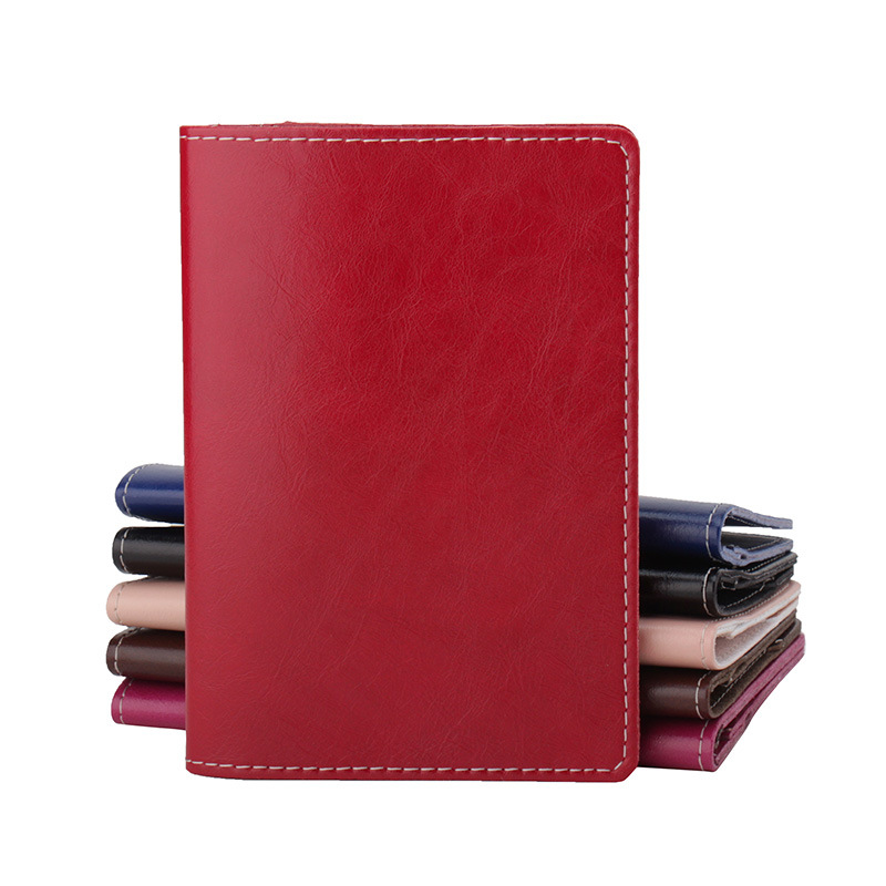 2018 Travel Solid Business Real Genuine Leather Passport Cover Unisex Checkbook Credit Card Holder Case Driver License Wallet