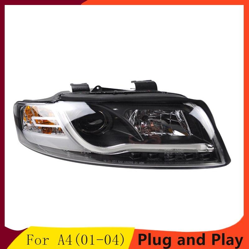 car Styling LED Head Lamp for AUDI A4 B6 headlights01 04 for A4 B6 head light