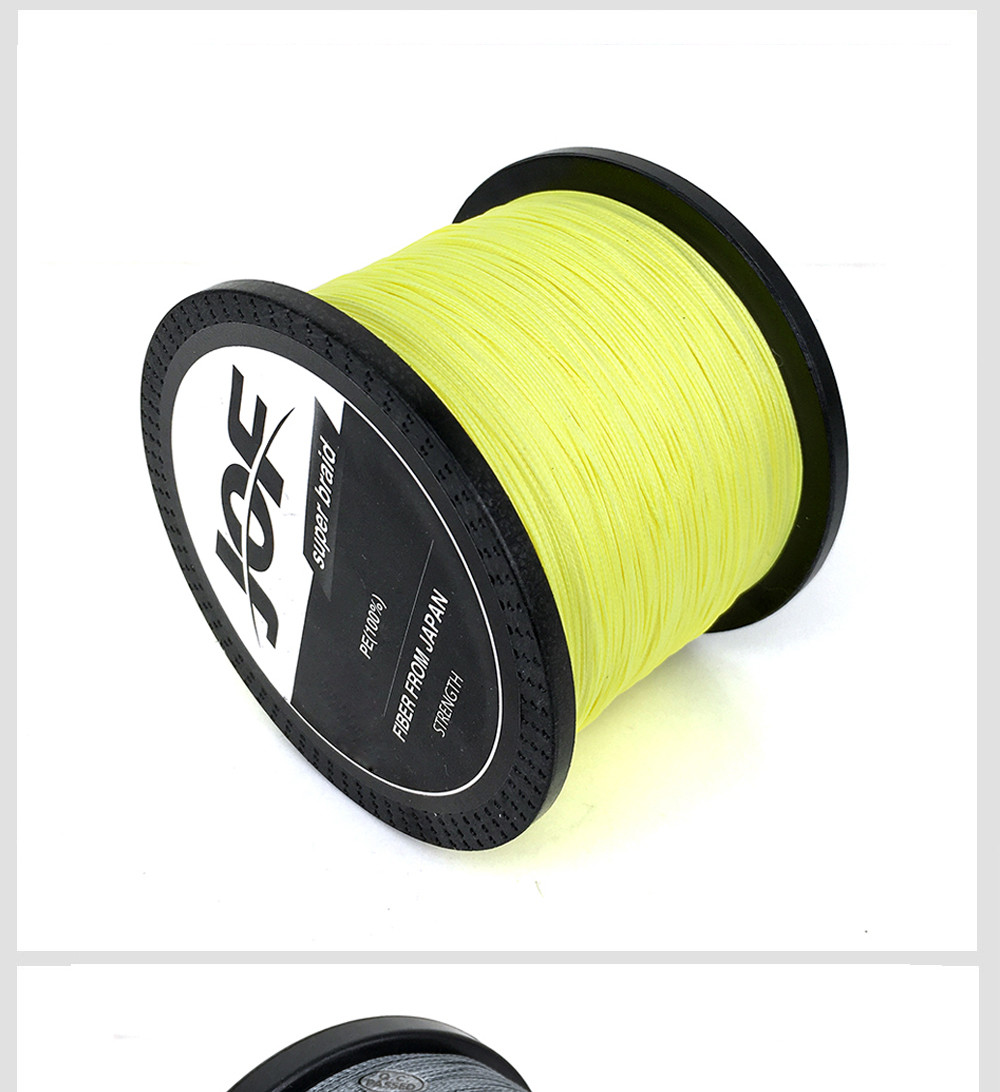 1000M Multifilament Fishing Line 100% PE Braided 4 threads fly fishing line for carping fishing  30 40 50 60 80 100lb 7
