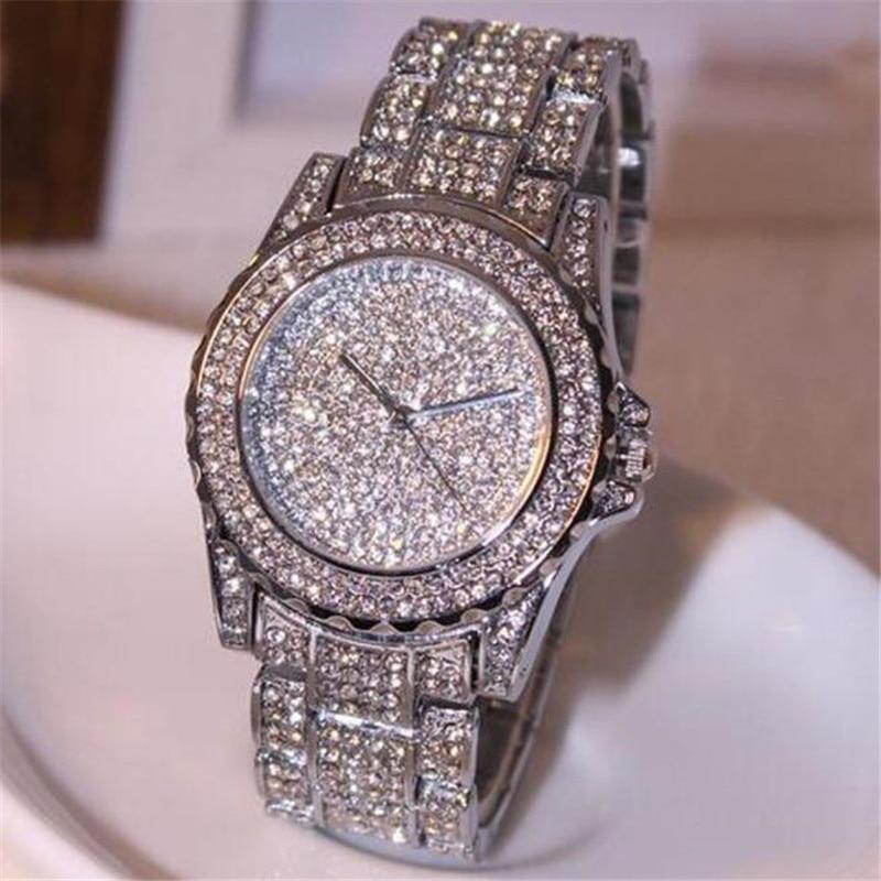 Women Bracelet  Women's Watches Clock Luxury Women Watches Rhinestone Ceramic Crystal Quartz Watches Lady Watch Relogio Feminino