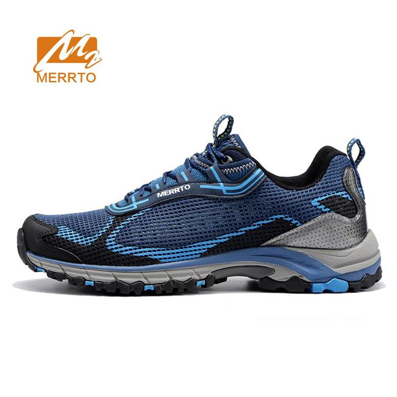 MERRTO Men's Mesh Hiking Trekking Shoes Sneakers For Men Breathable Comfortable Spring & Fall Climbing Mountain Shoes Man merrto men s spring and summer outdoor trekking hiking shoes sneakers for men mesh sports climbing mountain shoes man senderismo