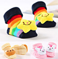 0-9M Lovely Baby Slippers Cotton Socks Animal Design Cartoon Newborn Infant Bebe Boys Girls Kids Cute Anti-slip Warm