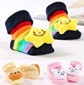 0-9M Lovely Baby Slippers Cotton Socks Animal Design Cartoon Newborn Infant Bebe Boys Girls Kids Cute Anti-slip Warm