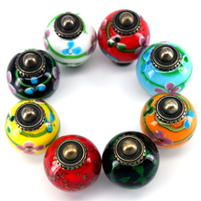 1x 30*45mm Japanese style Glass Door Knobs Colored Glaze Drawer Cabinet Wardrobe Kitchen Handle Knob Furniture Hardware