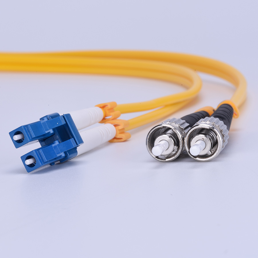 5pcs/lot SM 9/125 Duplex PVC 3.0mm 1M LC-ST Fiber Optic Jumper Cable LC/UPC-ST/UPC Duplex Fiber Optic Patch Cord