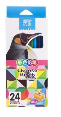 24 couleurs Qiao Mi couleur crayon Art ensemble dessin Art triangle