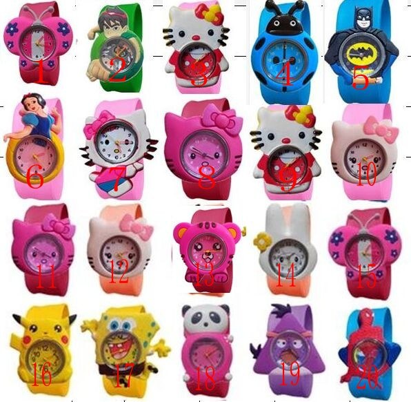 2016 New Fashion  mixed style Cartoon Watch Children Silicone Quartz WristWatch  Slap Cute Gift hot Sale 1pcs tom of finland xxl silicone anal plug черная крупная анальная пробка