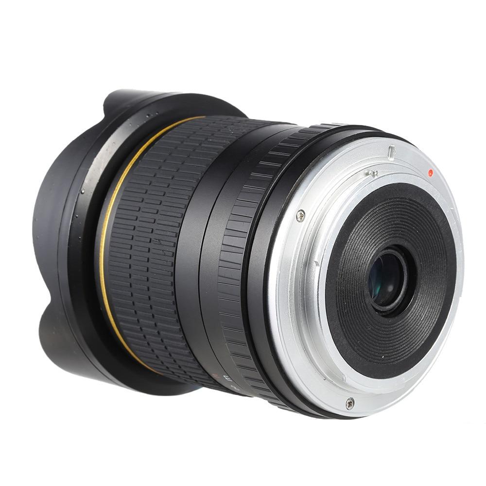8mm F/3.5 Ultra Grand Angle Objectif Fisheye pour Canon DSLR Caméras 1500D 1200D 800D 760D 750D 700D 750D 600D 80D 70D 60D 77D 7D - 4