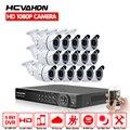 16-канальный видеорегистратор 16 шт. AHD1080P 2.0MP AHD CCTV камера система 3000TVL для наружного использования в помещении для дневного и ночного видения ...