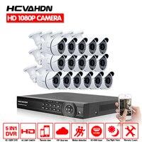 16 канальный DVR шт.. AHD1080P 2.0MP AHD CCTV камера системы 3000TVL Крытый День ночное видение дома DIY Kit 16ch водостойкий