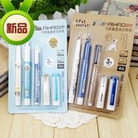 1 Set With 3pcs Lot Erasable Ink Pen Combination Can Change The Ink Sac Straight Liquid