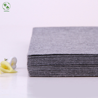 Solid Grey Color Felt 100 Polyester Nonwoven Pure Color Fabric For Sewing Felt Crafts Cloth 30X30CM