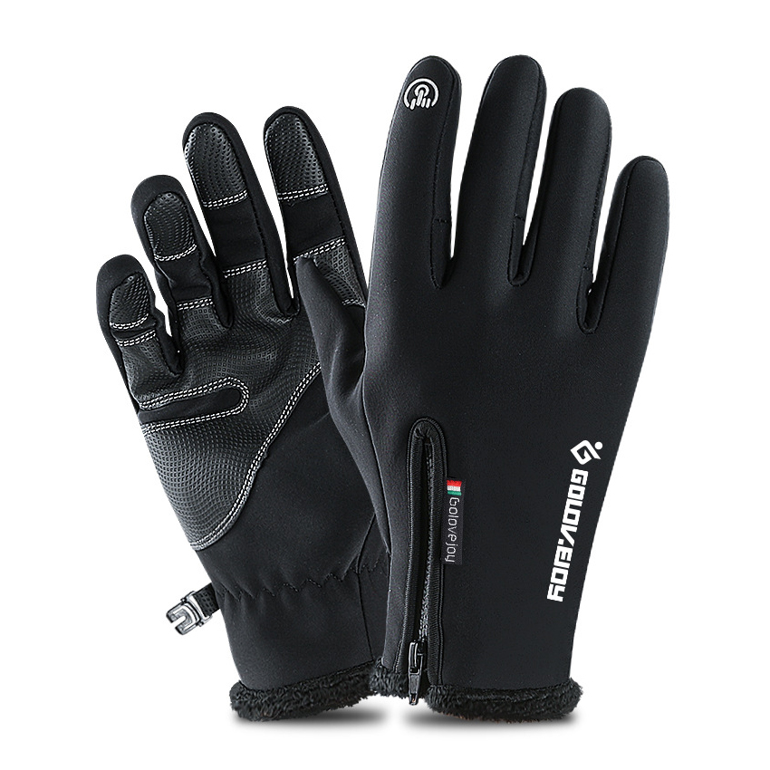 5 Size Cold-proof Unisex Waterproof Winter Gloves Cycling Fluff Warm Gloves For Touchscreen Cold Weather Windproof Anti Slip 2