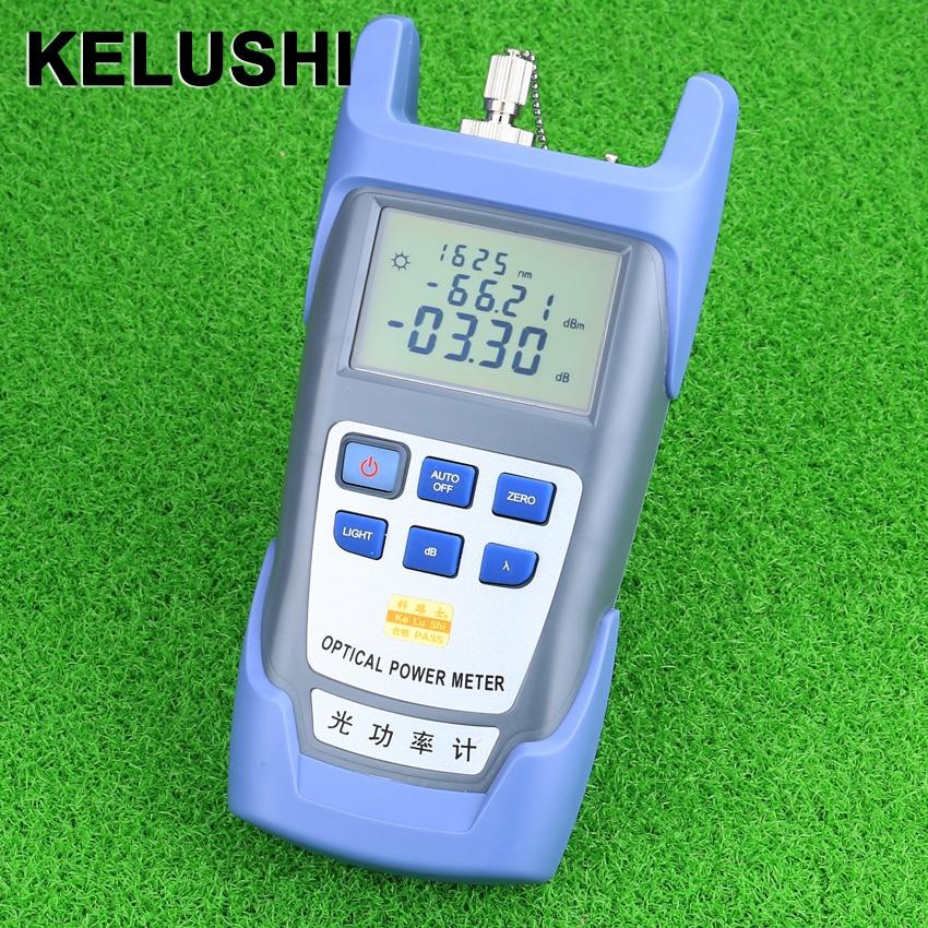 Medidor de potencia de fibra óptica KELUSHI FTTH DXP-40D Probador de cable de fibra óptica -70dBm ~ + 10dBm Conector SC / FC