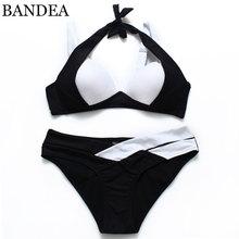 BANDEA Summer Style 2017 New Women Sexy Bikini Set Push Up Swimsuits Padding Swimwear Cross Bandage