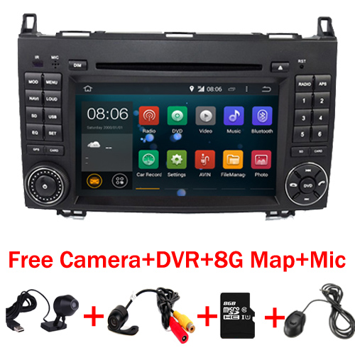 imágenes para Quad Core 1024*600 2 din DVD del coche del Androide 7.1 para Mercedes/benz B200 W169 A160 Viano Vito GPS NAVI BT de RADIO dvr incorporado wifi mapa