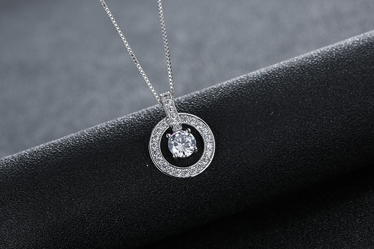 New Original Crystals From Swarovskis Temperament Sweet Bell Hollow Necklace For Women Female Necklaces Party Gift