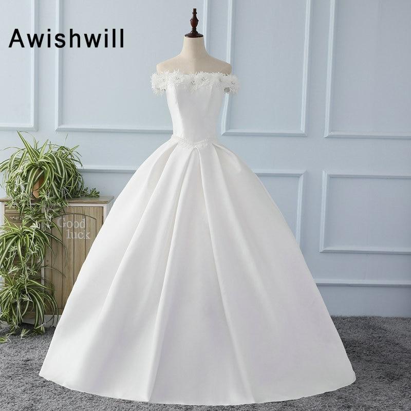 Vestido De Novia Off The Shoulder Boat Neck Vintage Wedding Dresses ...