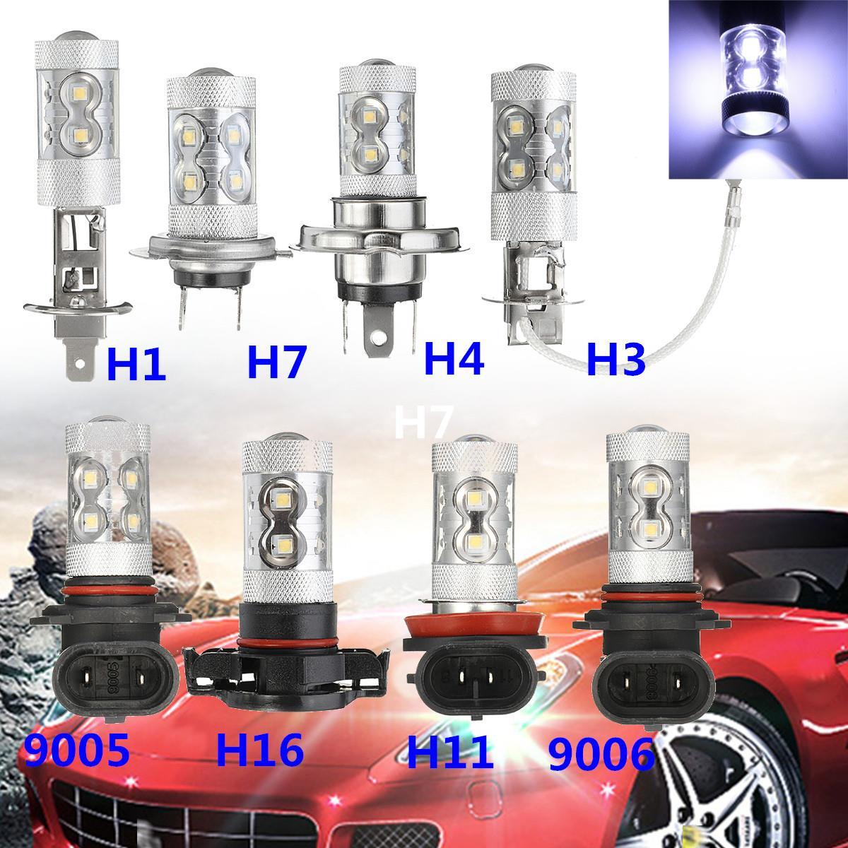 50W High Power Car LED Fog Lights Bulb Auto Lamp 12V H1 H3 H4 H7 H11 H16 9005 9006 LED Car Driving DRL Light Bulbs