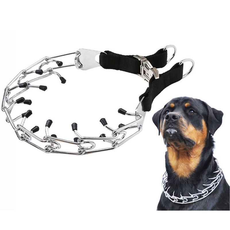 Dog Prong Training Collar Stainless Steel Choke Pinch Dog Collar with Comfort Tips Dog Collars for Big Dog