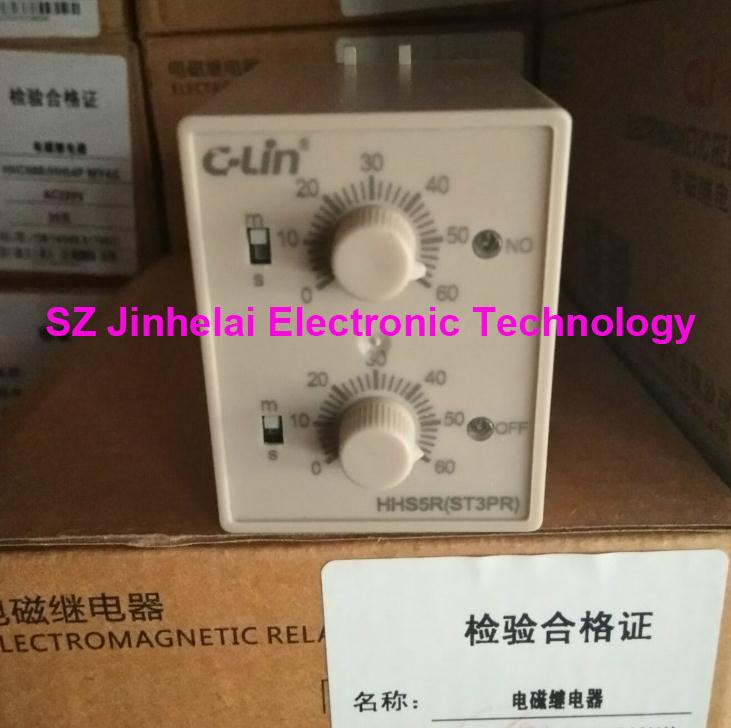 цена на 100%New and original HHS5R(ST3PR) C-Lin Time relay cyclical delay 6s/60s, 10s/10min, 30s/30min, 60s/60min