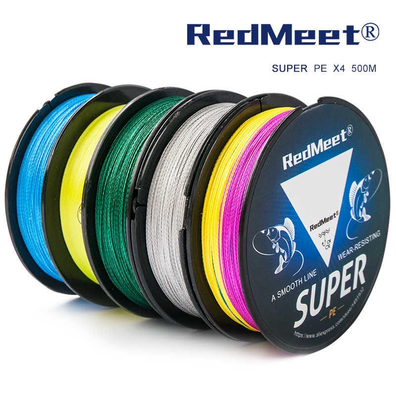 RedMeet 1PC 500m PE קלועה דיג קו 4 גידים דיג קווים רב נימה דגי קו חבל כבל 12 15 20 30 38 43 52 65 83lb
