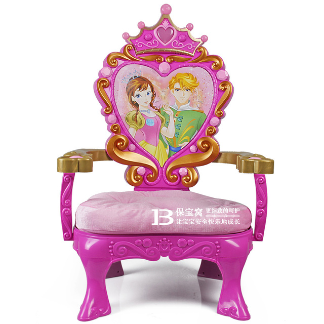 Child Chair Luxury Flannelet Princess Chair Toy Plastic Chair Plastic Baby  Stool