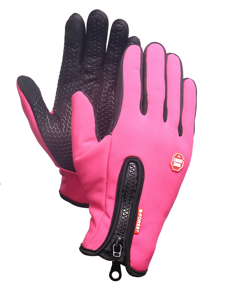 Outdoor Sports Hiking Winter Bicycle <font><b>Bike</b></font> Cycling <font><b>Gloves</b></font> For Men Women Windstopper Simulated Leather Soft Warm <font><b>Gloves</b></font>