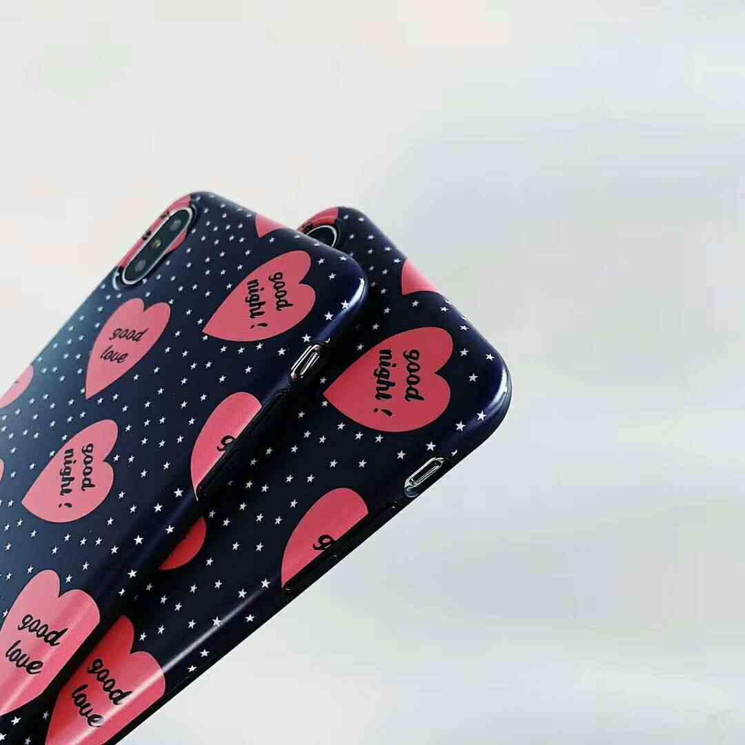 1010c48c82 ... Fashion Korean Style Love hearts Stars Scrub Soft Silicone Cover Case  for iPhone X XS Max